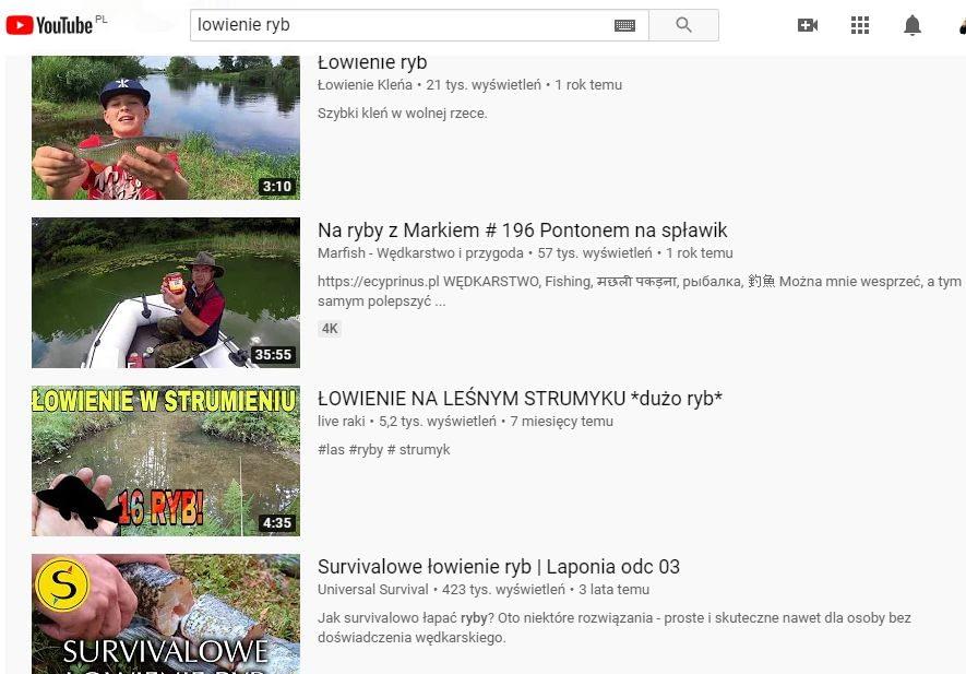 youtube zasiegi ryby wedkarstwo