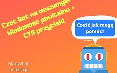 Wiadomość powitalna dla czat bota FanPage by Manychat